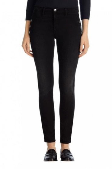Zion Mid-Rise Skinny W Buttons In Defiance