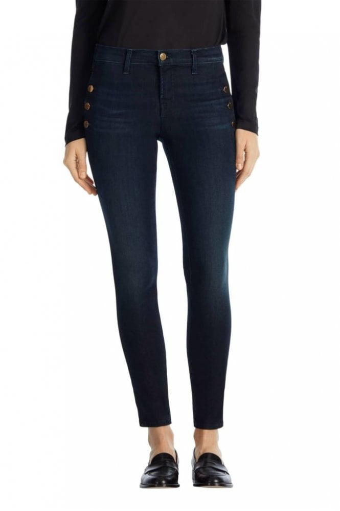 J Brand Zion Mid-Rise Skinny W Buttons In Transformation