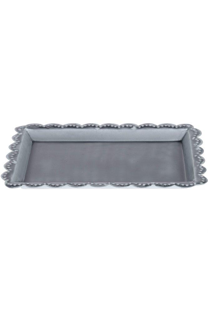 jardin d 39 ulysse boheme gipsy metal tray in grey at sue. Black Bedroom Furniture Sets. Home Design Ideas