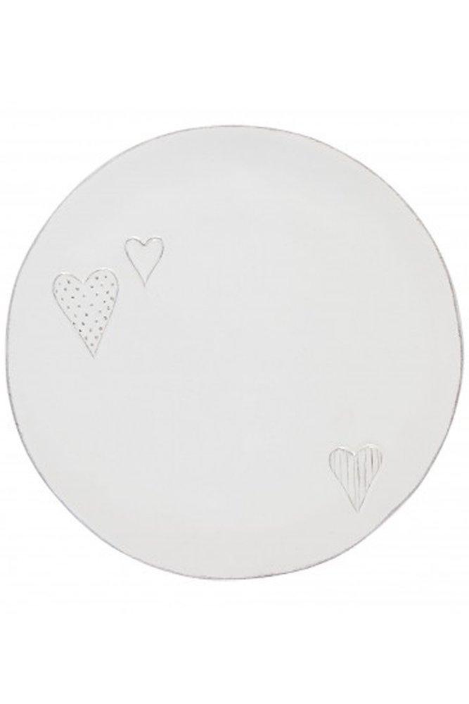 Jardin d 39 ulysse heart plate in white at sue parkinson for Jardin d ulysse