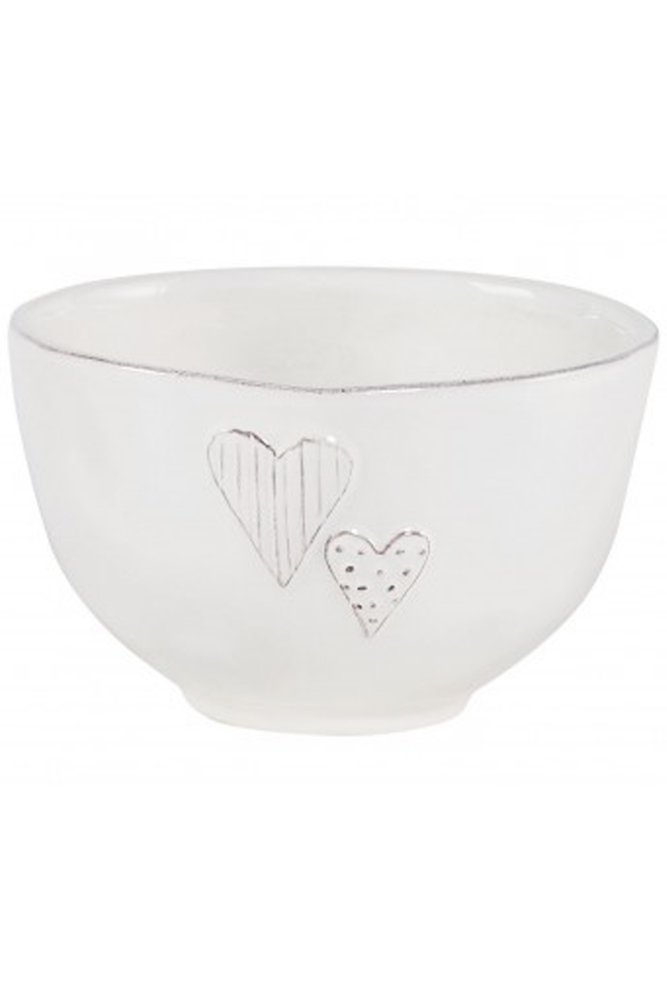 Jardin d 39 ulysse small heart bowl in white at sue parkinson for Jardin d ulysse