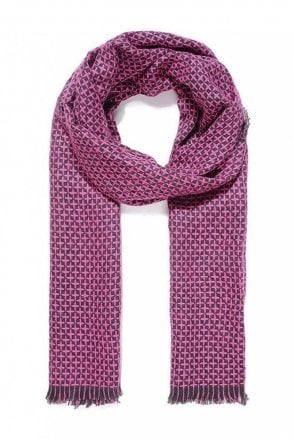 Fuchsia Reversible Knitted Scarf
