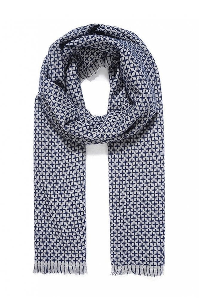 Jewelcity Grey Reversible Knitted Scarf