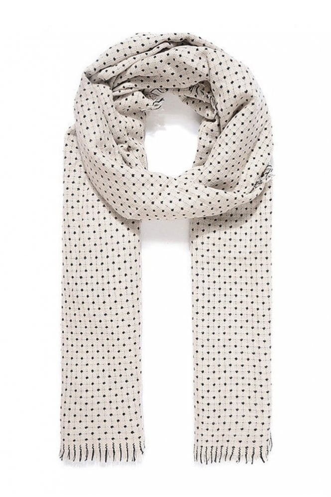 Jewelcity Ivory Reversible Knitted Scarf