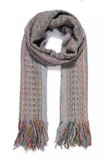 Multi Coloured Knitted Scarf