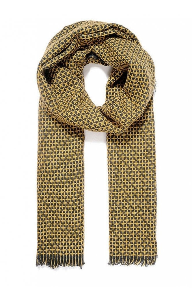 Sunday Mustard Reversible Knitted Scarf