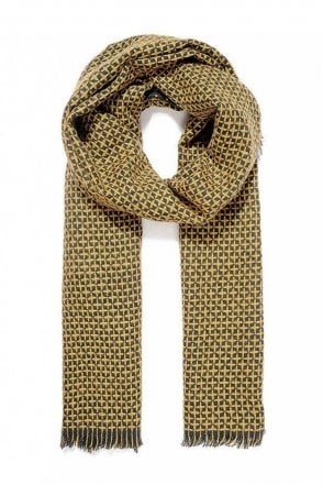 Mustard Reversible Knitted Scarf