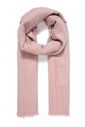 Pink Reversible Knitted Scarf