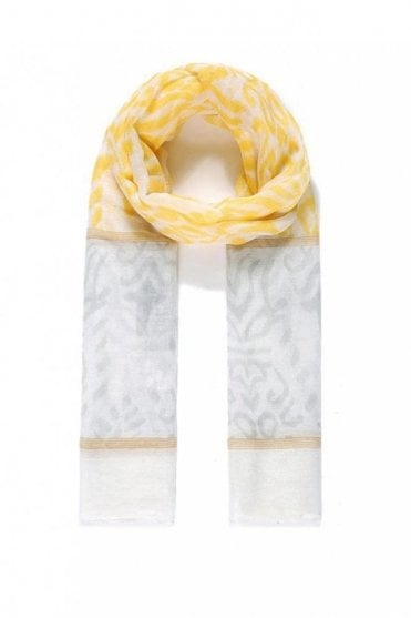 Yellow Floral Print Scarf
