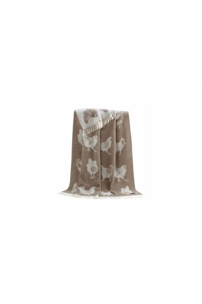 JJ Textiles Chicken Throw in Brown