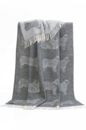 Dot Sheep Throw in Grey