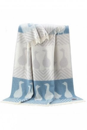 Goose Throw in Grey and Blue