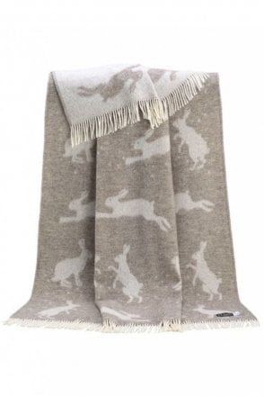 Hare Throw in Soft Brown
