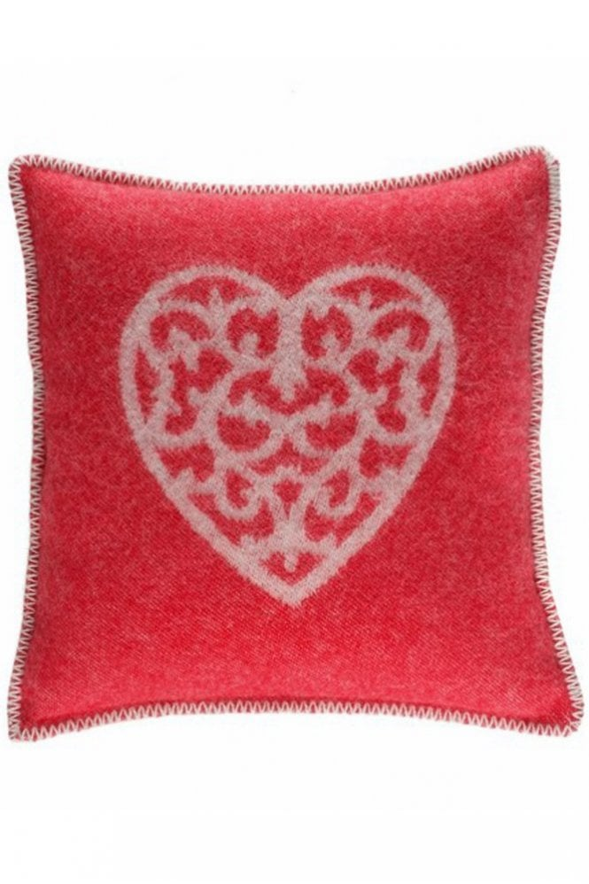 JJ Textiles Heart Cushion in Red