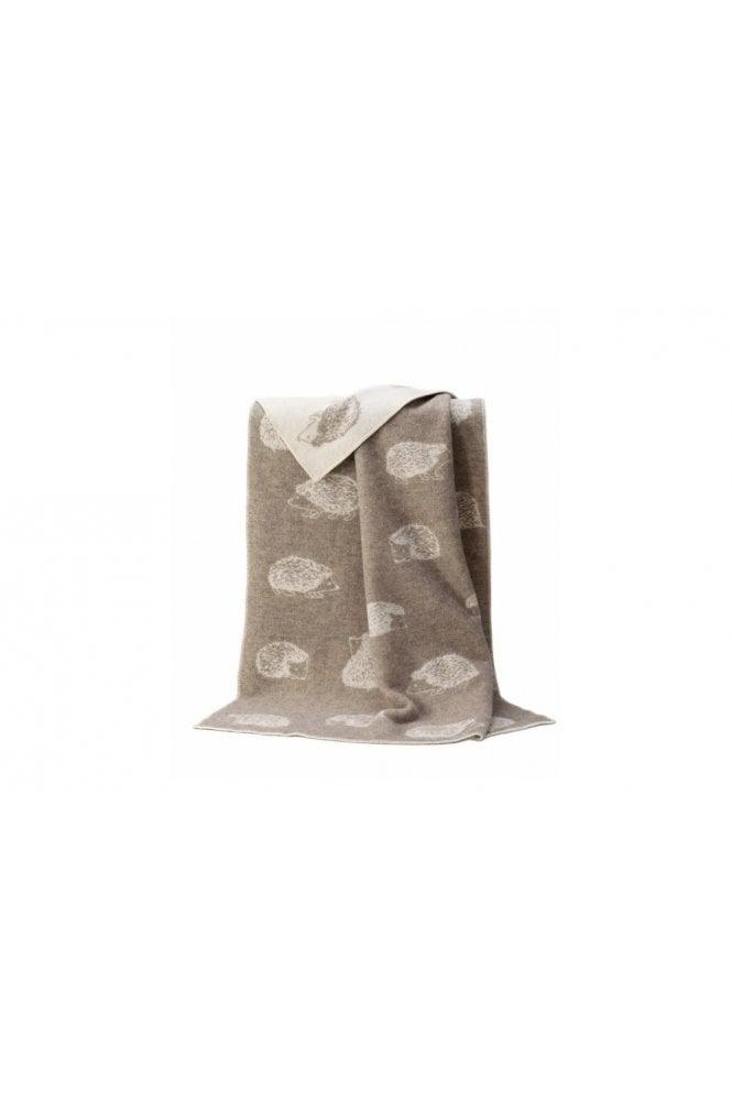JJ Textiles Hedgehog Blanket in Soft Brown