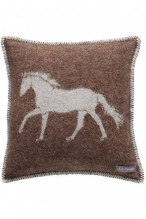 Horse Cushion in Dark Brown