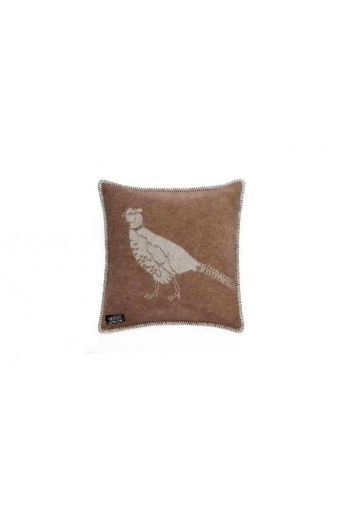 JJ Textiles Pheasant Cushion in Brown