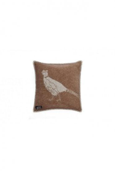 Pheasant Cushion in Brown