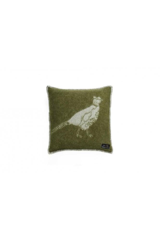 JJ Textiles Pheasant Cushion in Green