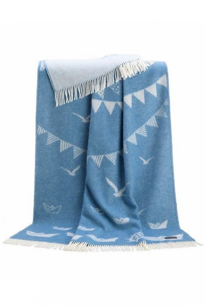 JJ Textiles Sea Throw in Blue