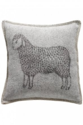 Sheep Cushion in Grey