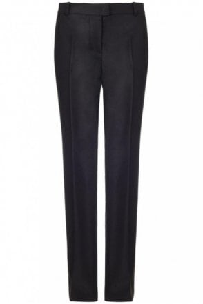 Ben Wool Stretch Trouser in Black