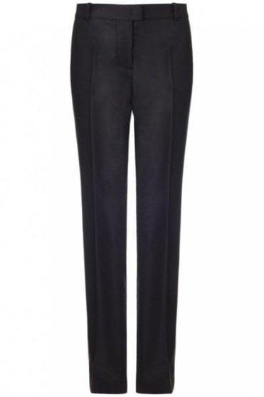 Ben Wool Stretch Trouser in Black