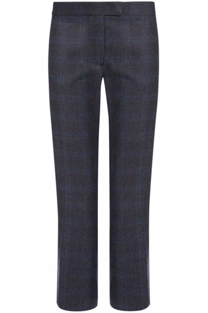 Joseph Check New Queen Trouser in Dark Grey