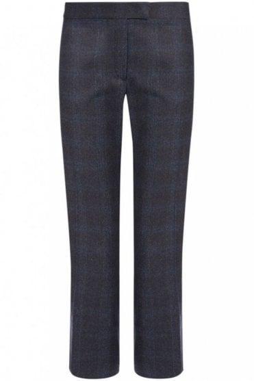 Check New Queen Trouser in Dark Grey