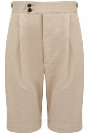 Cotton Chino Dean Short in Stone