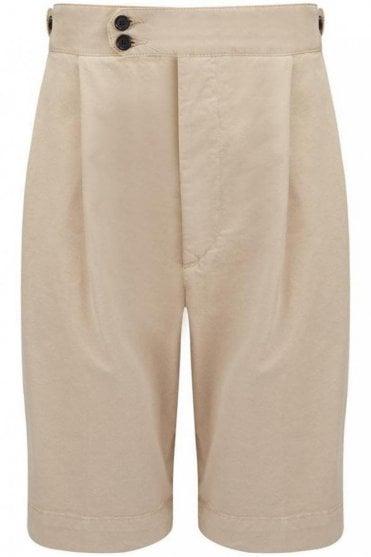 Cotton Chino Dean Short in Stone