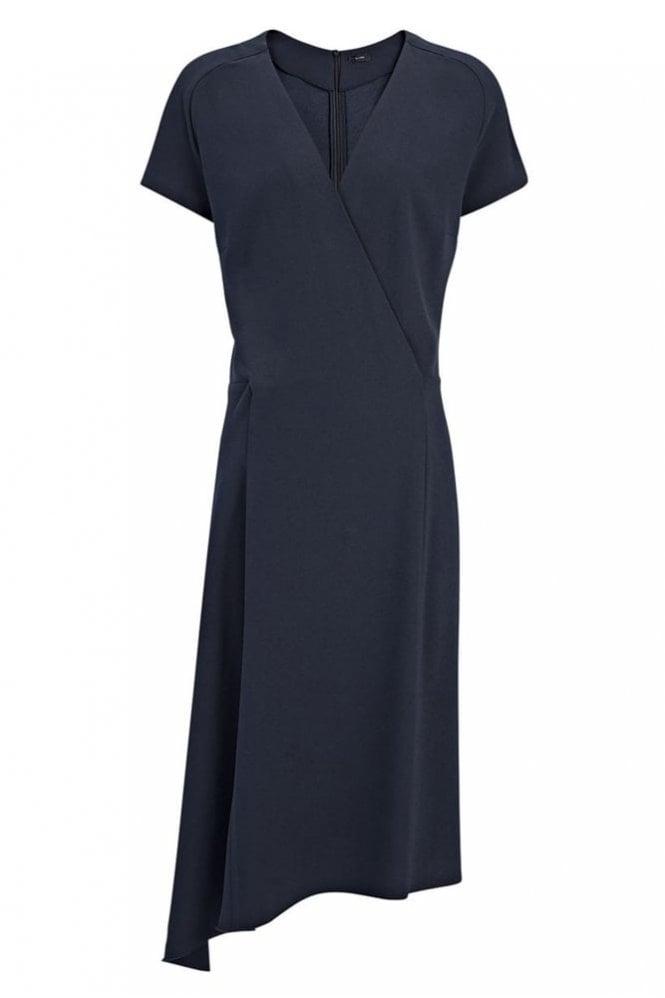 Joseph Crepe Stretch June Dress in Navy