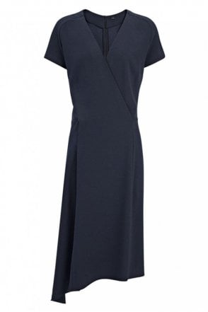 Crepe Stretch June Dress in Navy