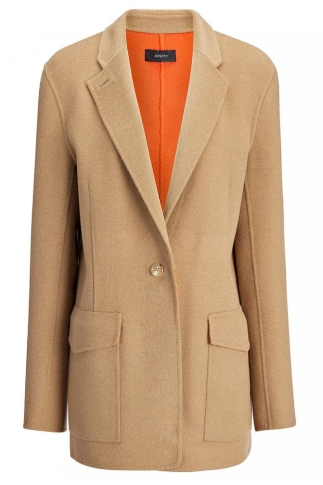 Joseph Double Face Cashmere New Roma Jacket in Camel