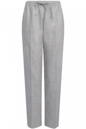 Flannel Stretch Lou Lou Trouser in Oatmeal