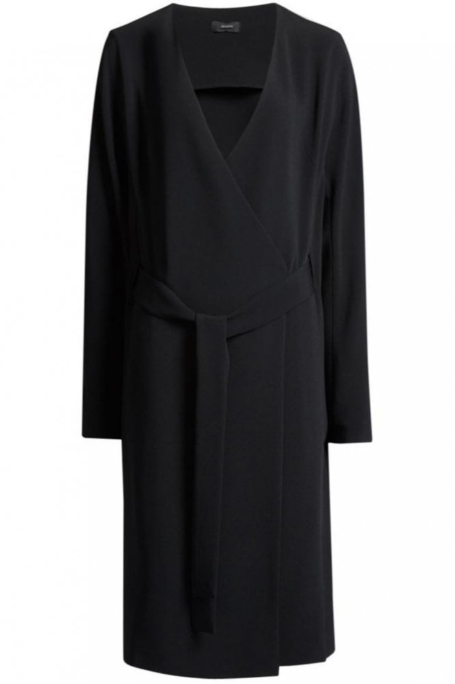 Joseph Fluid Crepe Hale Dress in Black