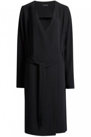 Fluid Crepe Hale Dress in Black