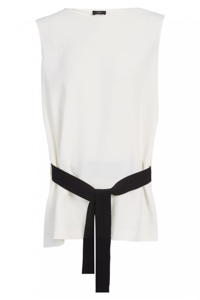 Joseph Fluid Crepe Murphy Top in Off White