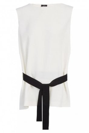 Fluid Crepe Murphy Top in Off White