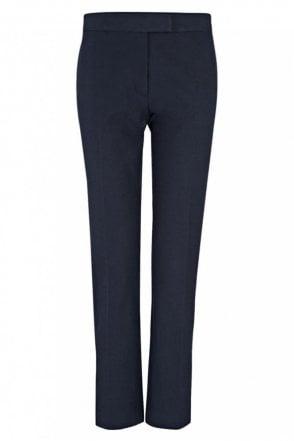 Gabardine Stretch Finley Trouser in Navy