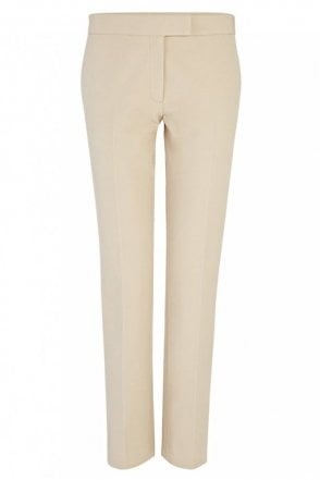 Gabardine Stretch Finley Trouser in Stone