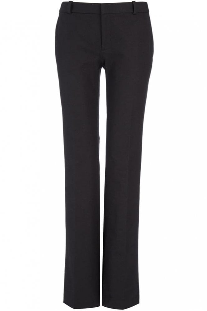 Joseph Gabardine Stretch New Rocket Trouser in Black