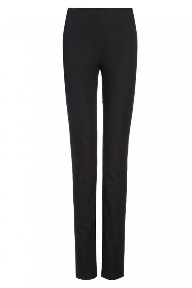 Joseph Gabardine Stretch New Tony Trouser in Black