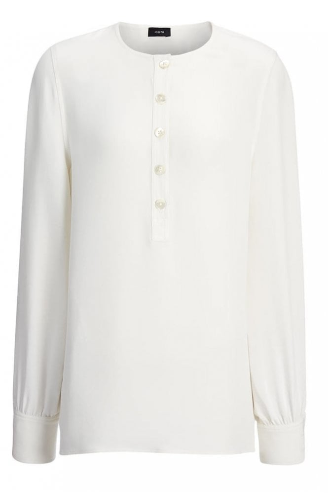 Joseph Matt Silk Cleo Top in Off-White