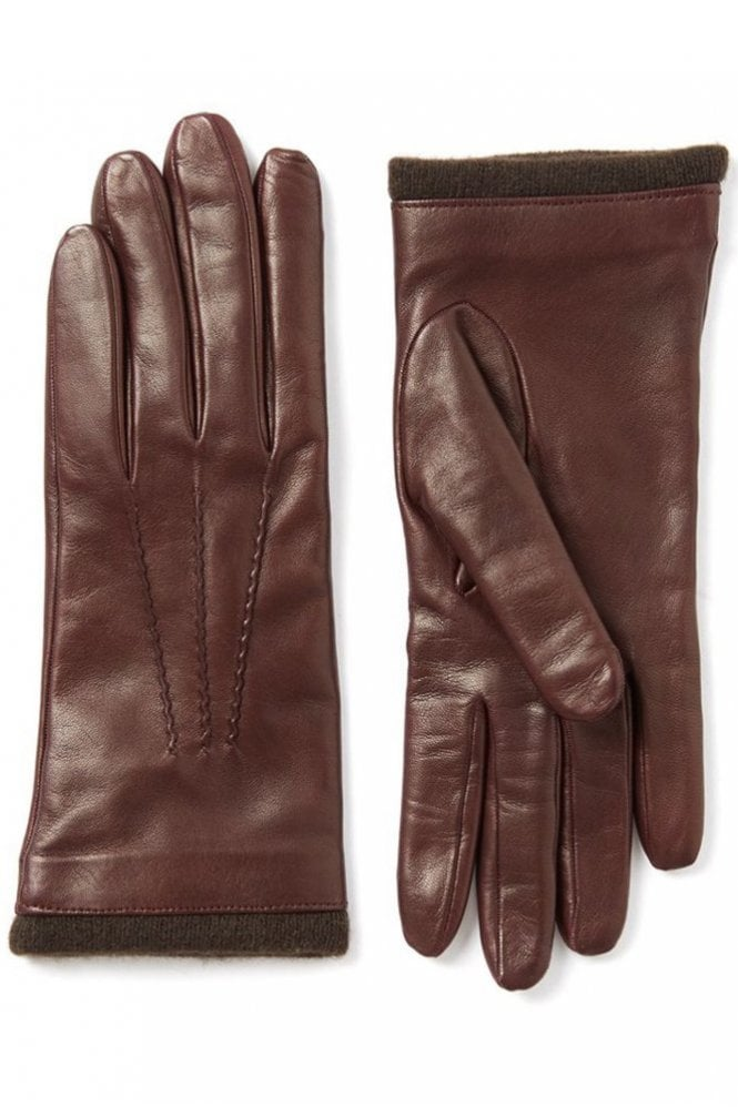 Joseph Nappa Leather Glove in Claret