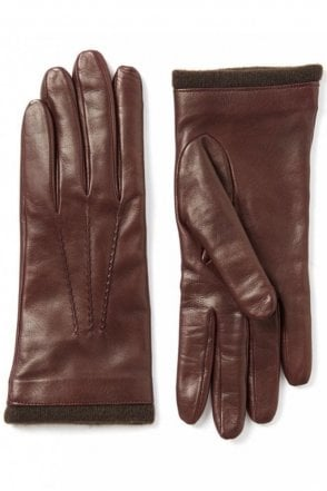 Nappa Leather Glove in Claret