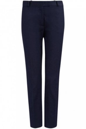 New Cotton Compact Bing Court Trouser in Navy