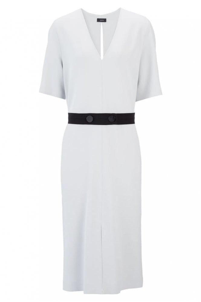 Joseph New Viscose Stretch Phoebe Dress in Putty