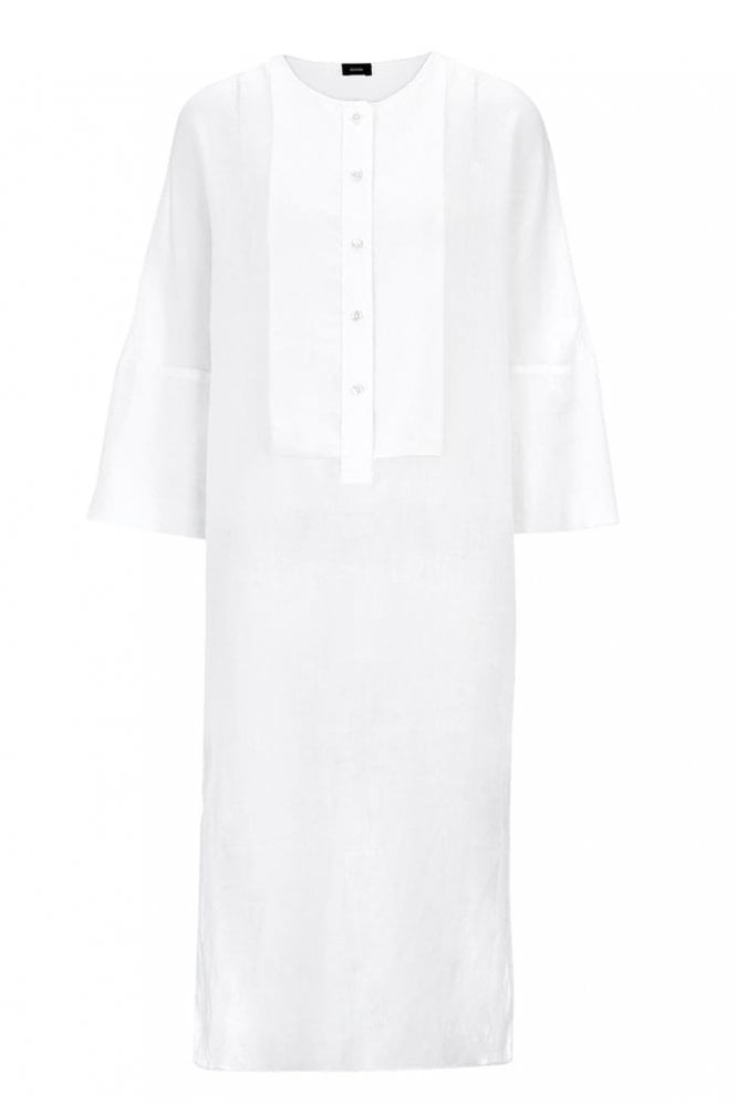 Joseph Ramie Voile and Georgette Thea Dress in White