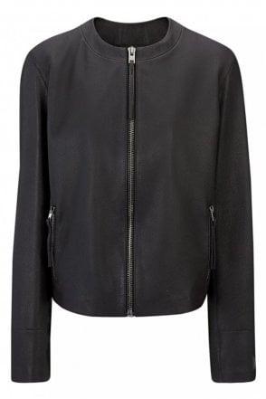 Scuba Leather Alya Jacket in Black